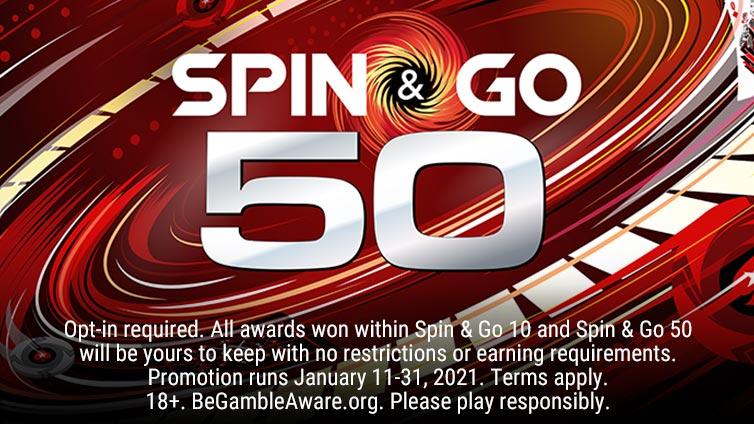 Spin & Go 50 Leader Boards