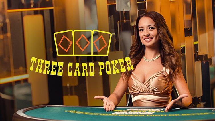 Живой 3-карточный покер