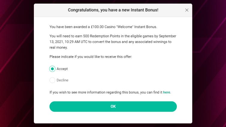 How Instant Bonus Works